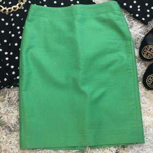 Kelly Green J. Crew Pencil Skirt